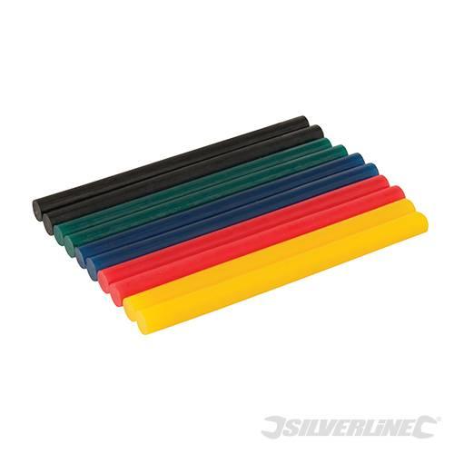 Lot de 10 bâtons de colle colorée pour mini pistolet à colle