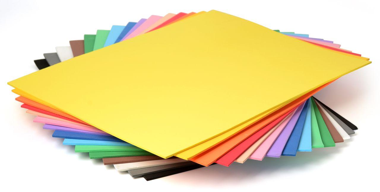 Planche de mousse à découper - Format 20 x 30 cms - 2 mm d\'épaisseur
