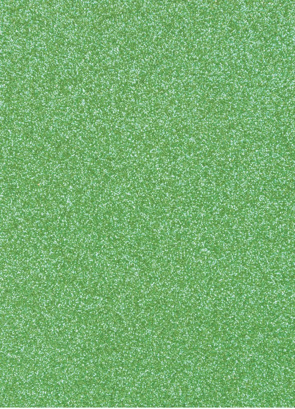 Planche de papier cartonné pailleté - 280g/cm2 - 20 x 30 cms - Vert clair