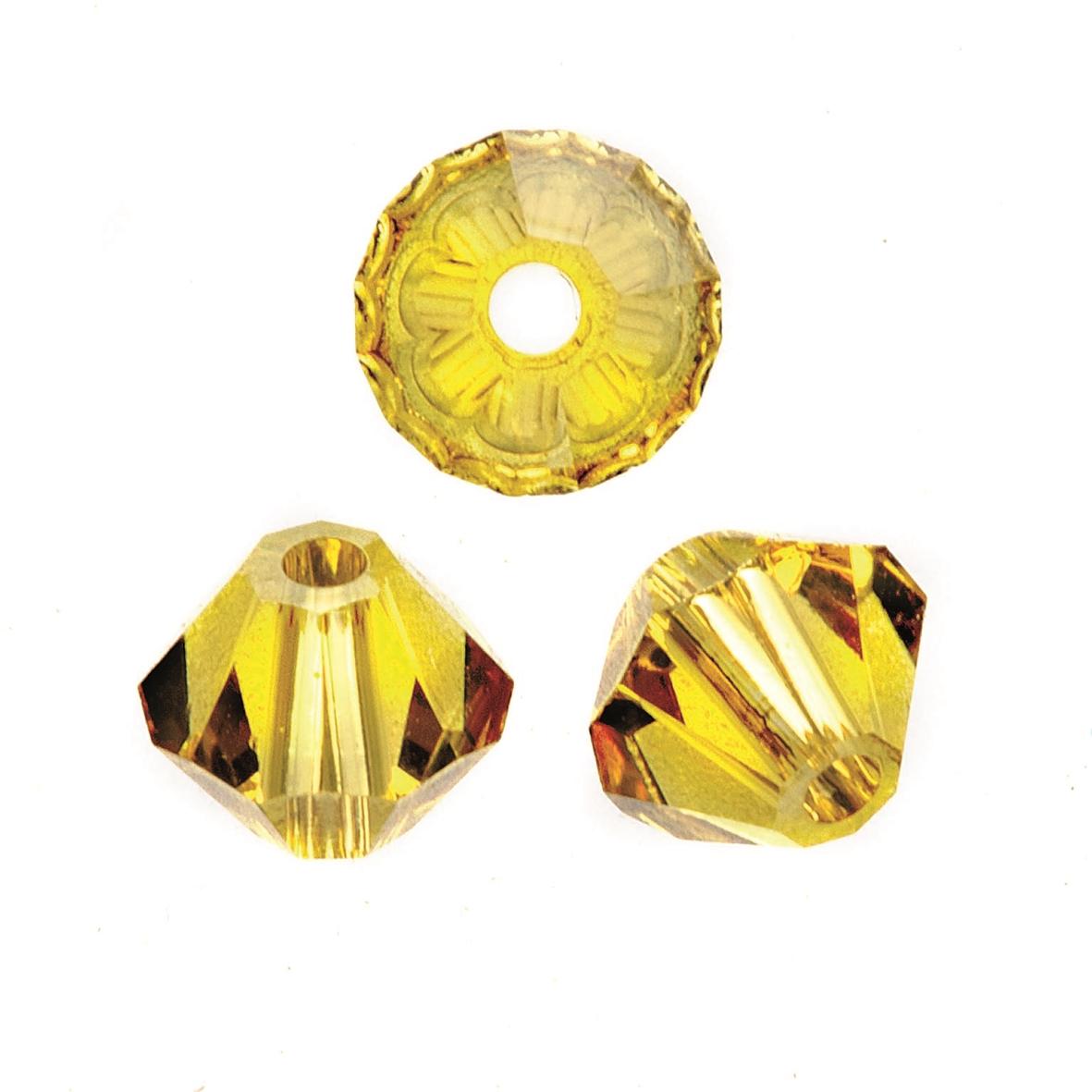 Perles Swarovski 4 mm jaune - Boîte de 25