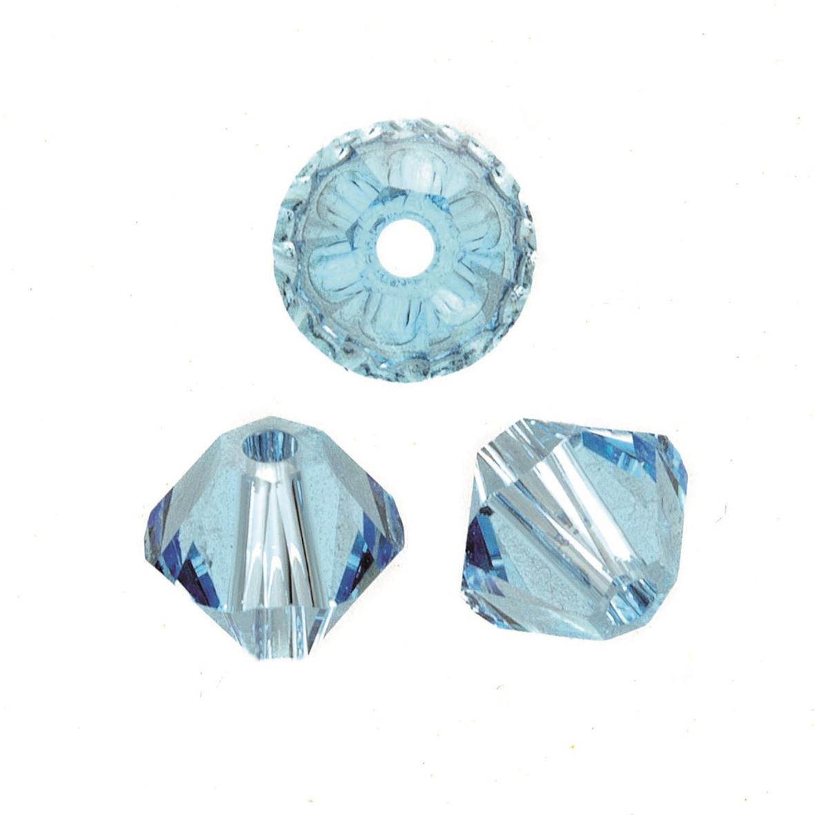 Perles Swarovski 4 mm bleu clair - Boîte de 25