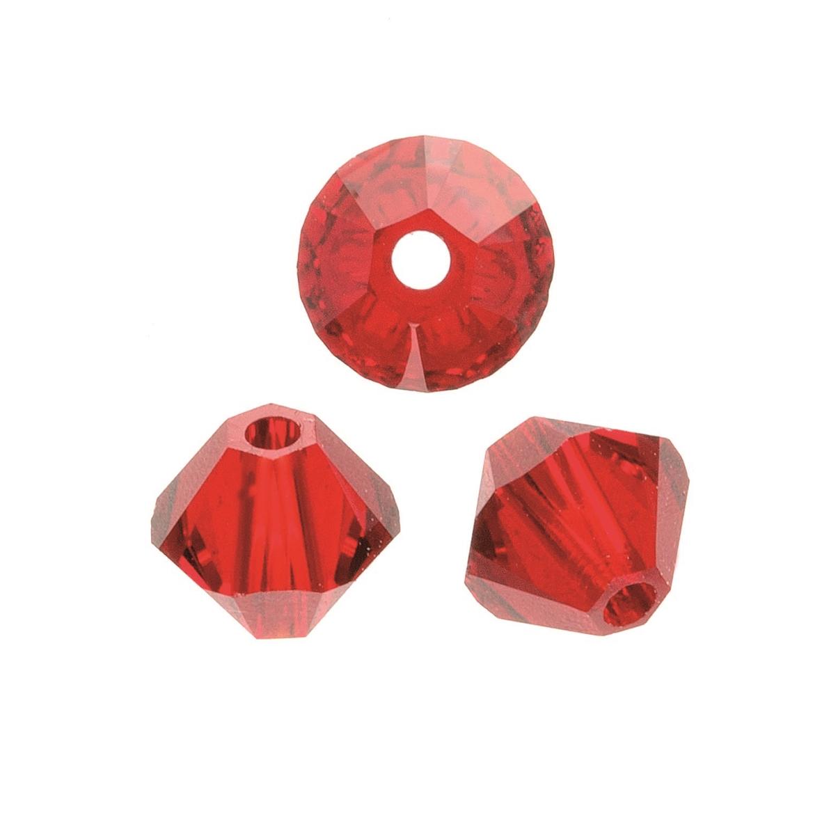 Perles Swarovski 4 mm rouge - Boîte de 25