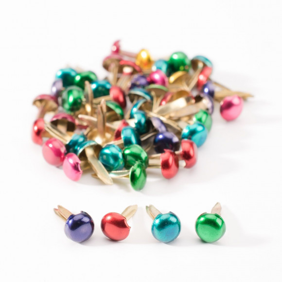 Lot de 50 attaches parisiennes coloris assortis 5 mm