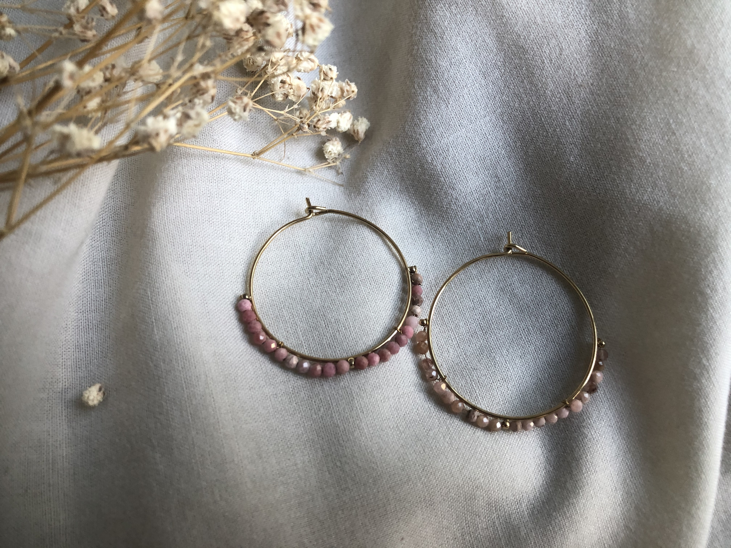 Boucles d\'oreille Pearl roses