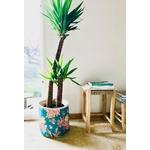 cache pot Floral Turquoise