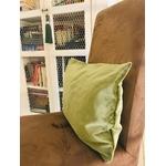 coussins velours vert fait main vert