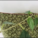 grand coussin vert coton fait main