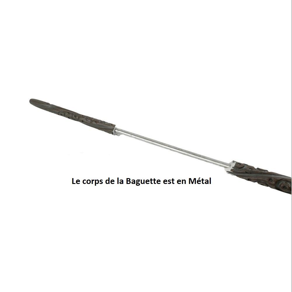 Baguette Wand Harry Potter Métal/résine + Boite Velour + carte Hogwarts. Neuve