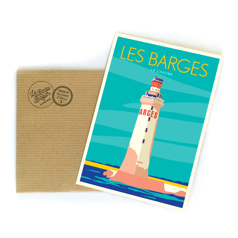 CARTE POSTALE - Phare des Barges