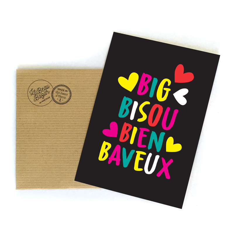 CARTE POSTALE - Big Bisou