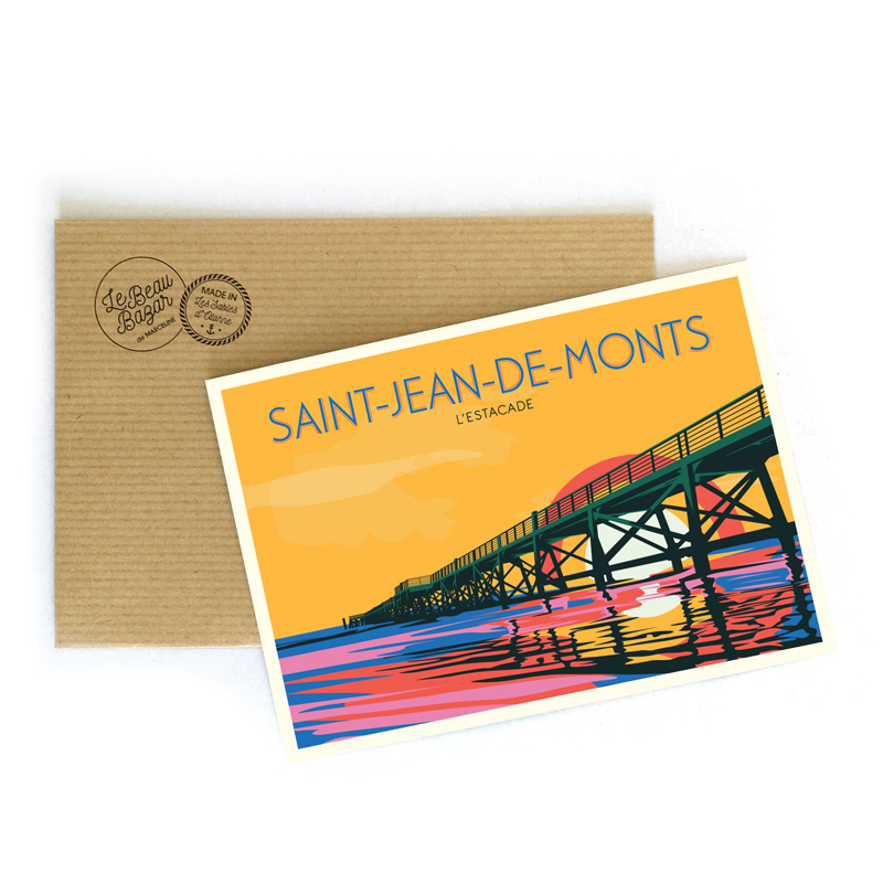 CARTE POSTALE -  L\'Estacade - Saint-Jean-de-Monts