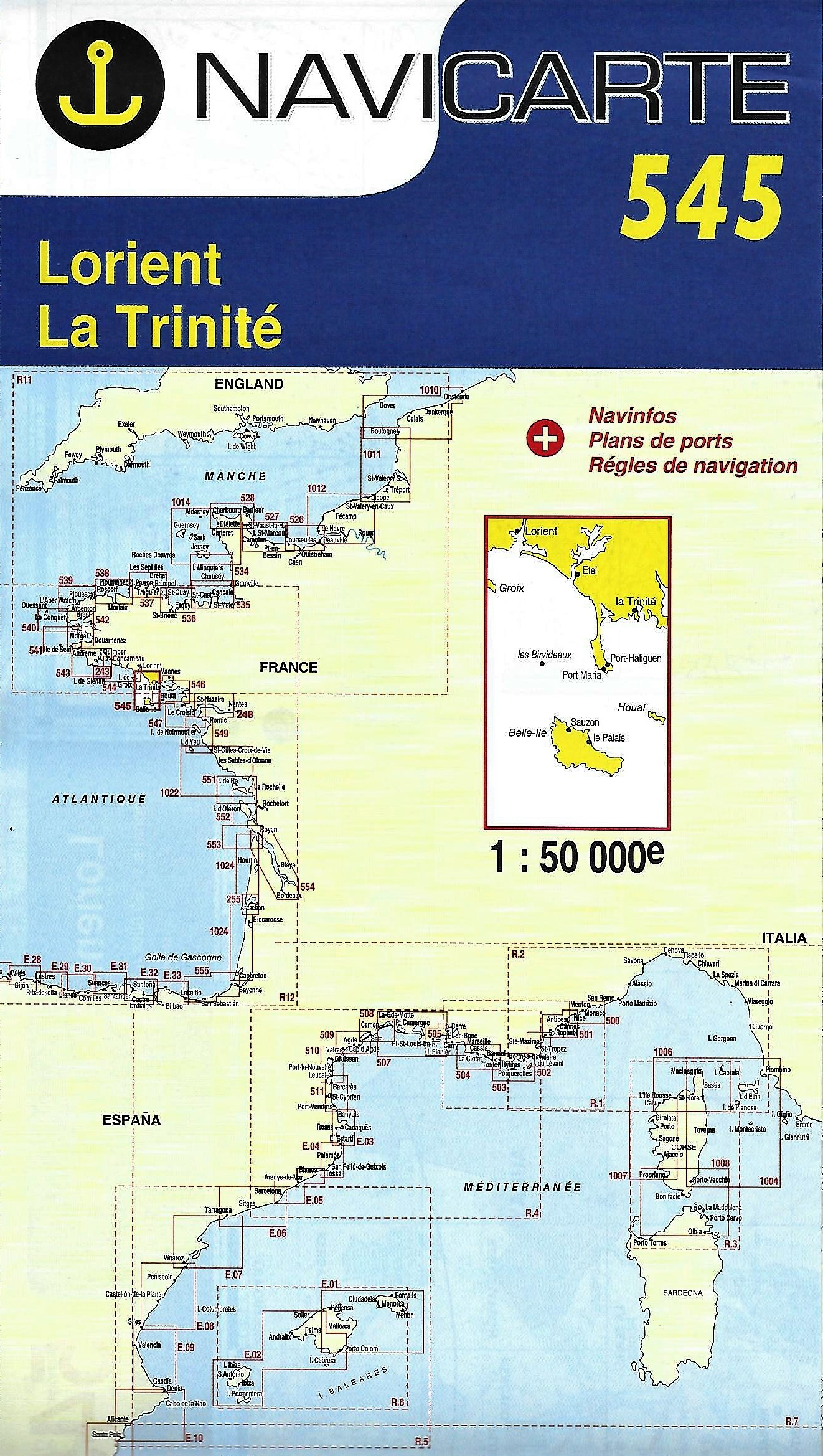 Carte marine Navicarte 545 – de Lorient à La Trinité sur mer