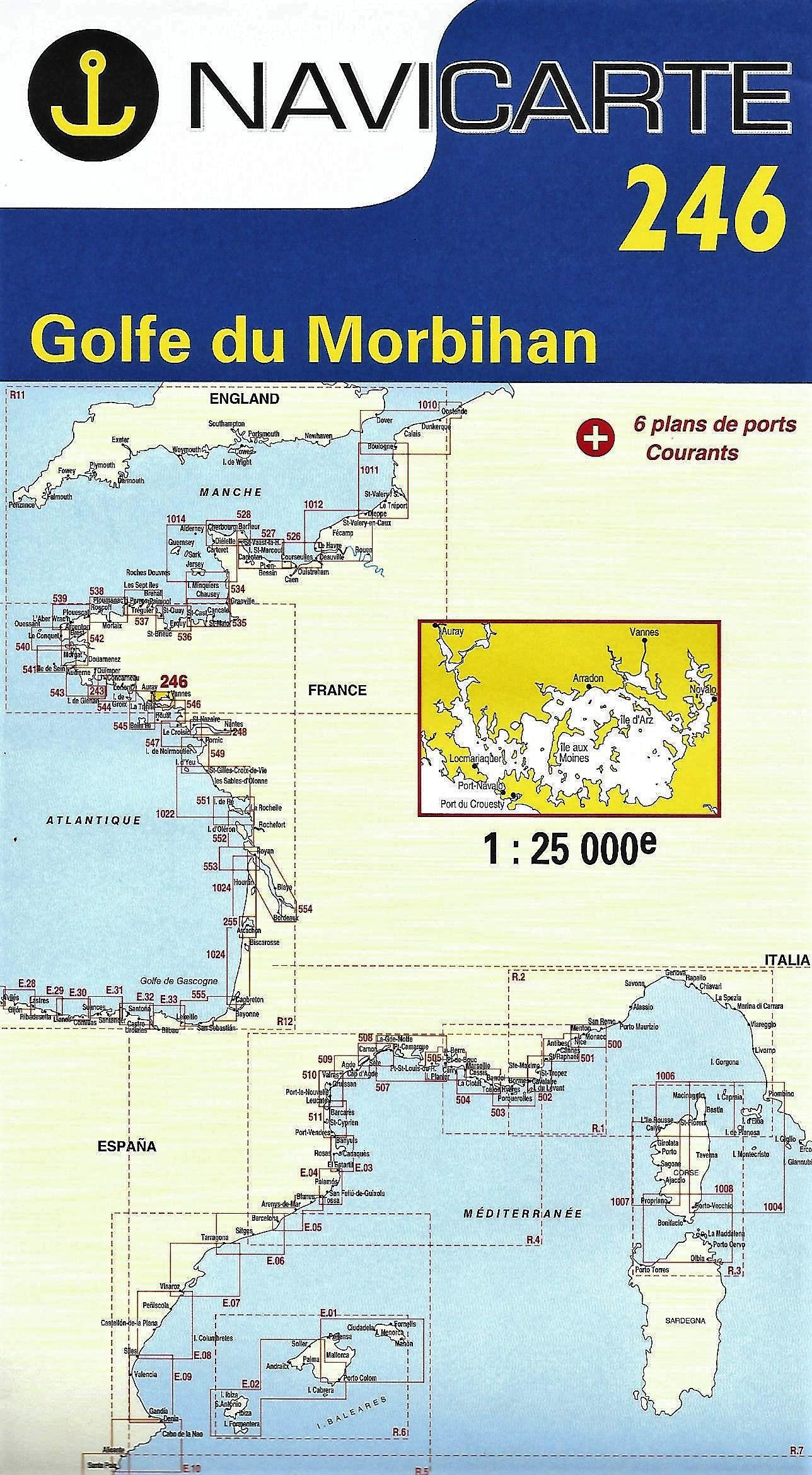 Carte marine Navicarte 246-Golfe du Morbihan