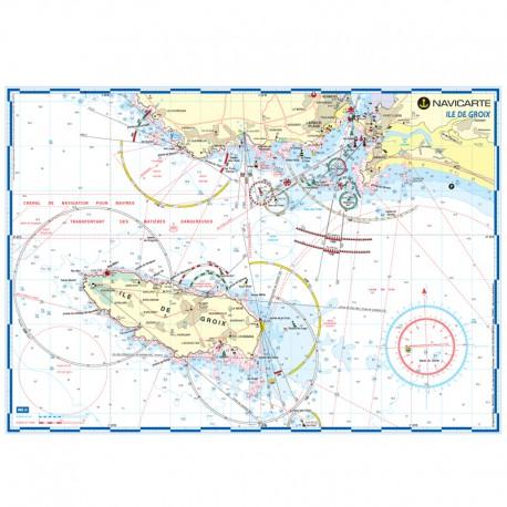 Carte marine plastifiée-île de Groix