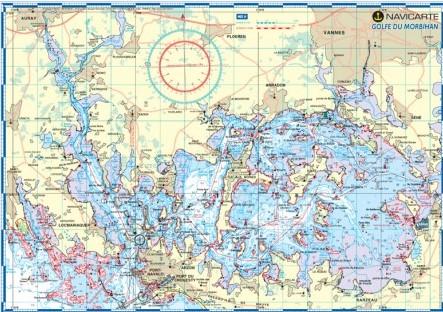 Carte marine plastifiée-Golfe du Morbihan