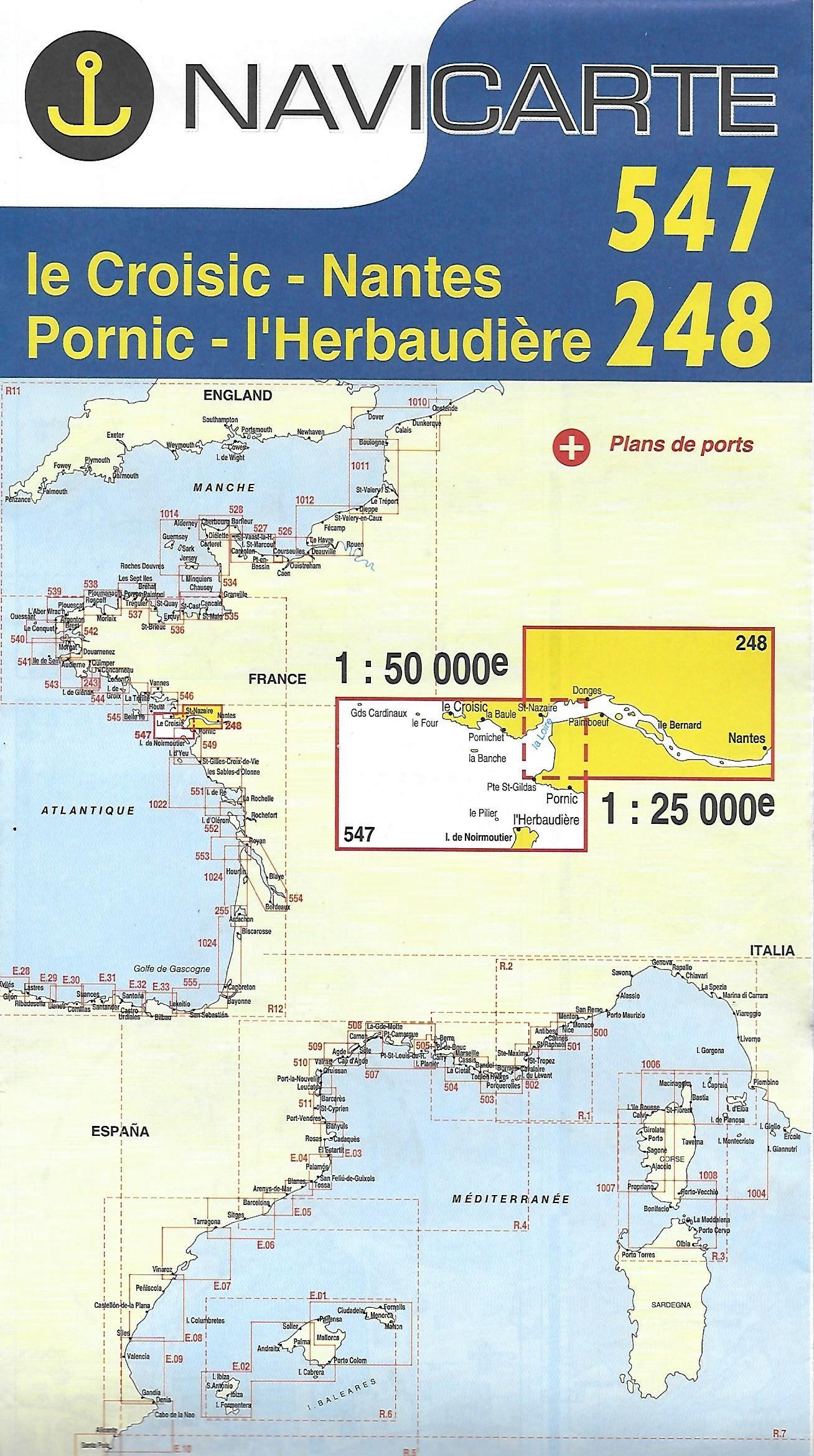 Navicarte 547-248 Le Croisic-Nnates-Pornic-L'herbaudière