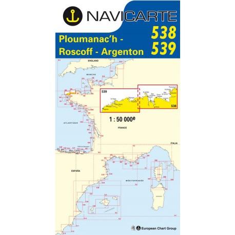 Carte Navicarte 538+539 Ploumanac\'h-Iles de Batz-Porsal