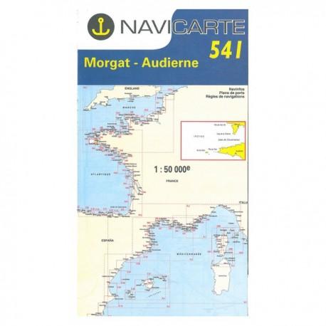 Carte marine navicarte 541 de Morgat à Audierne