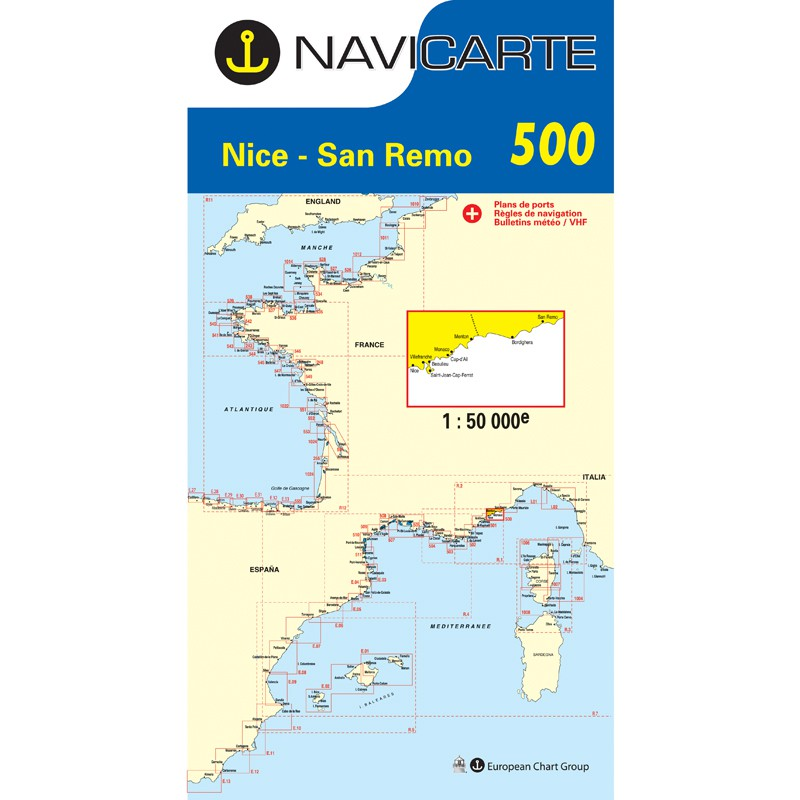 Carte Marine Navicarte 500 - Nice, San Remo