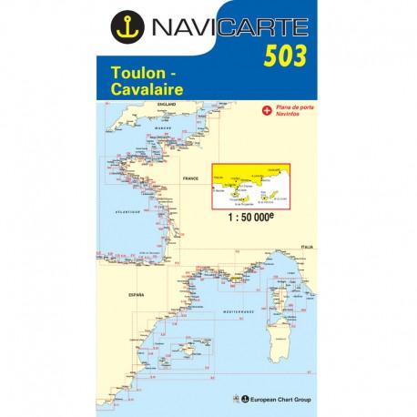 Carte Navicarte 503 - Toulon, Cavalaire, Iles D\'Hyères