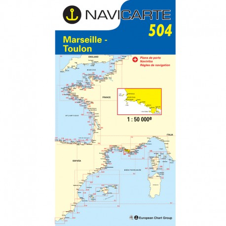Carte Navicarte 504- Marseille-Toulon-Les Calanques