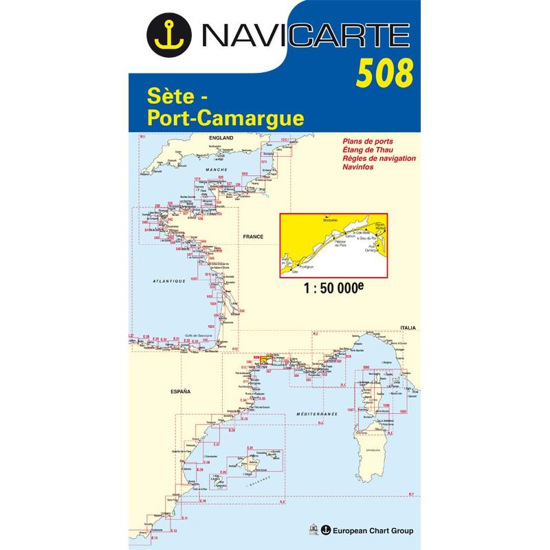 Carte Navicarte 508-De Sète à Port Camargue-étang de Thau