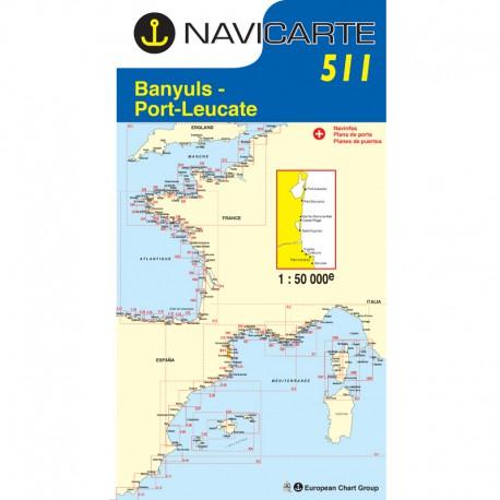 Carte marine Navicarte 511- Banyuls-Port Leucate-Port Vendres