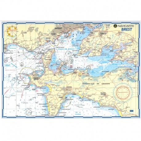 Carte marine plastifiée-Brest