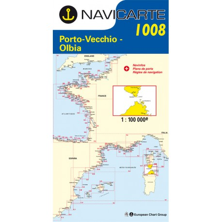 Carte marine Navicarte 1008- Porto-Vechio-Olbia