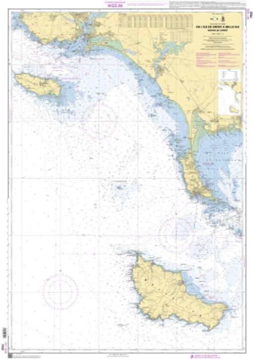 Carte shom De l'ile de groix à belle-ile