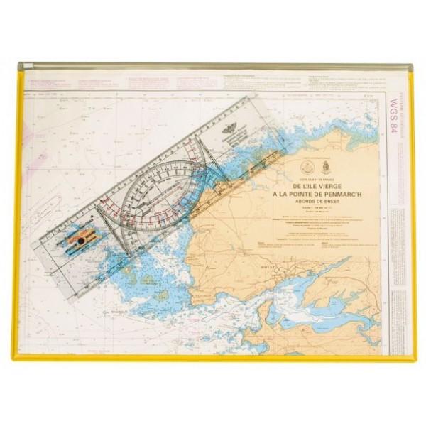 Planchette de navigation pour carte marine