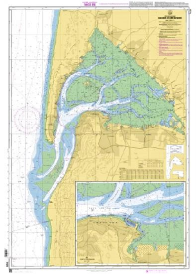 Carte marine du bassin d\'Arcachon- Shom 7428L
