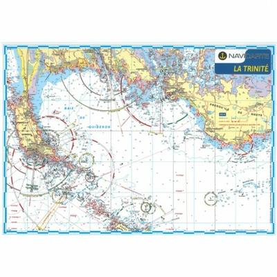 Carte marine plastifiée- Baie de Quiberon