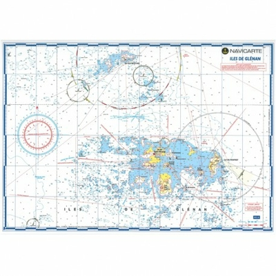 Carte marine plastifiée-îles de Glénan