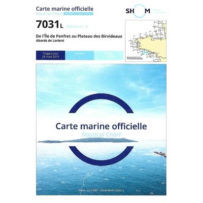 Carte marine SHOM 7031L-De l'île de Penfret au plateau des birvideaux