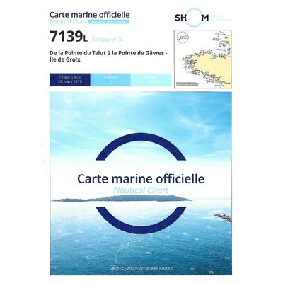 Carte marine SHOM 7139L-De la pointe du Talut à la pointe de Gâvre