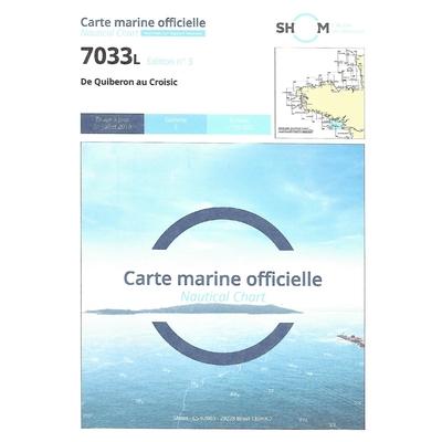 Carte marine SHOM 7033L-De Quiberon au Croisic