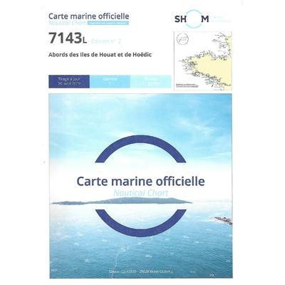 Carte marine SHOM 7143L – Abords des îles de Houat et de Hoëdic