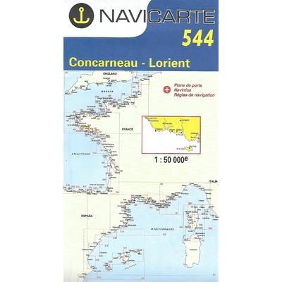 Carte marine Navicarte 544-Concarneau-Lorient
