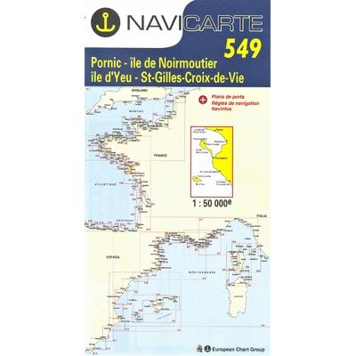Carte marine Navicarte 549- De Pornic à St Gilles croix de vie