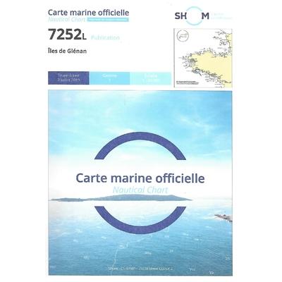 Carte marine SHOM 7252L-îles de Glénan