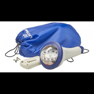 Compas de route et de relèvement iris 100 couleur bleu plastimo avec sac et étrier