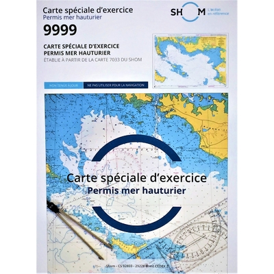 carte marine pour permis hauturier reference 9999 shom