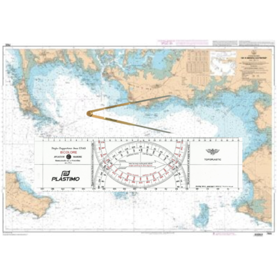 Kit matériel permis hauturier (règle Cras+compas droit)