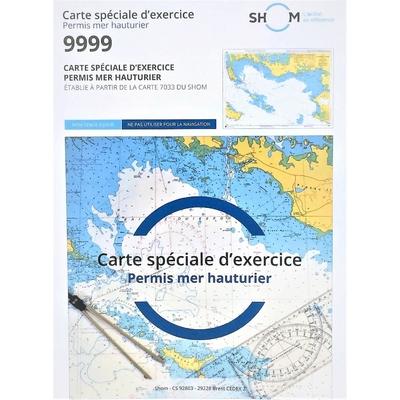 Carte SHOM 9999 – Examen Permis Hauturier