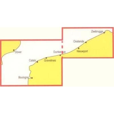 Navicarte - 1010 - Ostende, Boulogne, Pas de Calais, Zeebrugge zoom