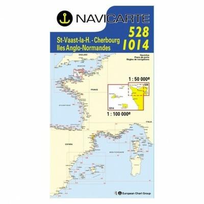 Carte marine navicarte 1014+528, St Vaast- Iles anglo-normandes