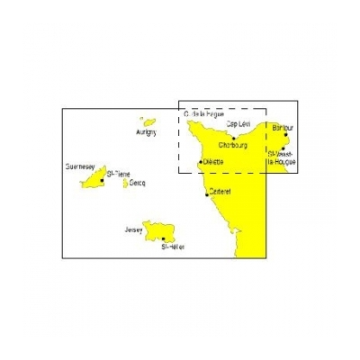 carte marine des iles anglo normande cherbourg cotentin