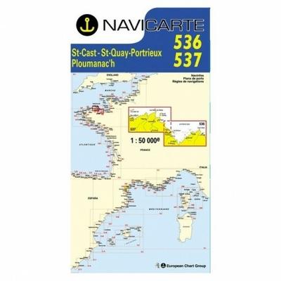 Carte marine Navicarte 536+537-St Cast- St Quay- Ploumanac'h