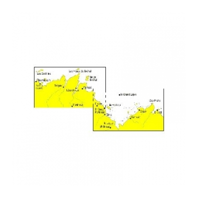 Carte marine Navicarte double - bretagne nord de st cast à ploumanac'h